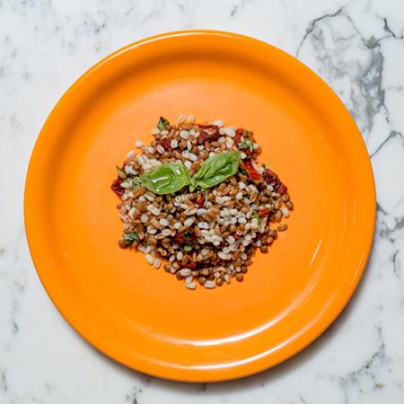 • Farro • Orzo • Lenticchie • Pomodoro secco • Basilico