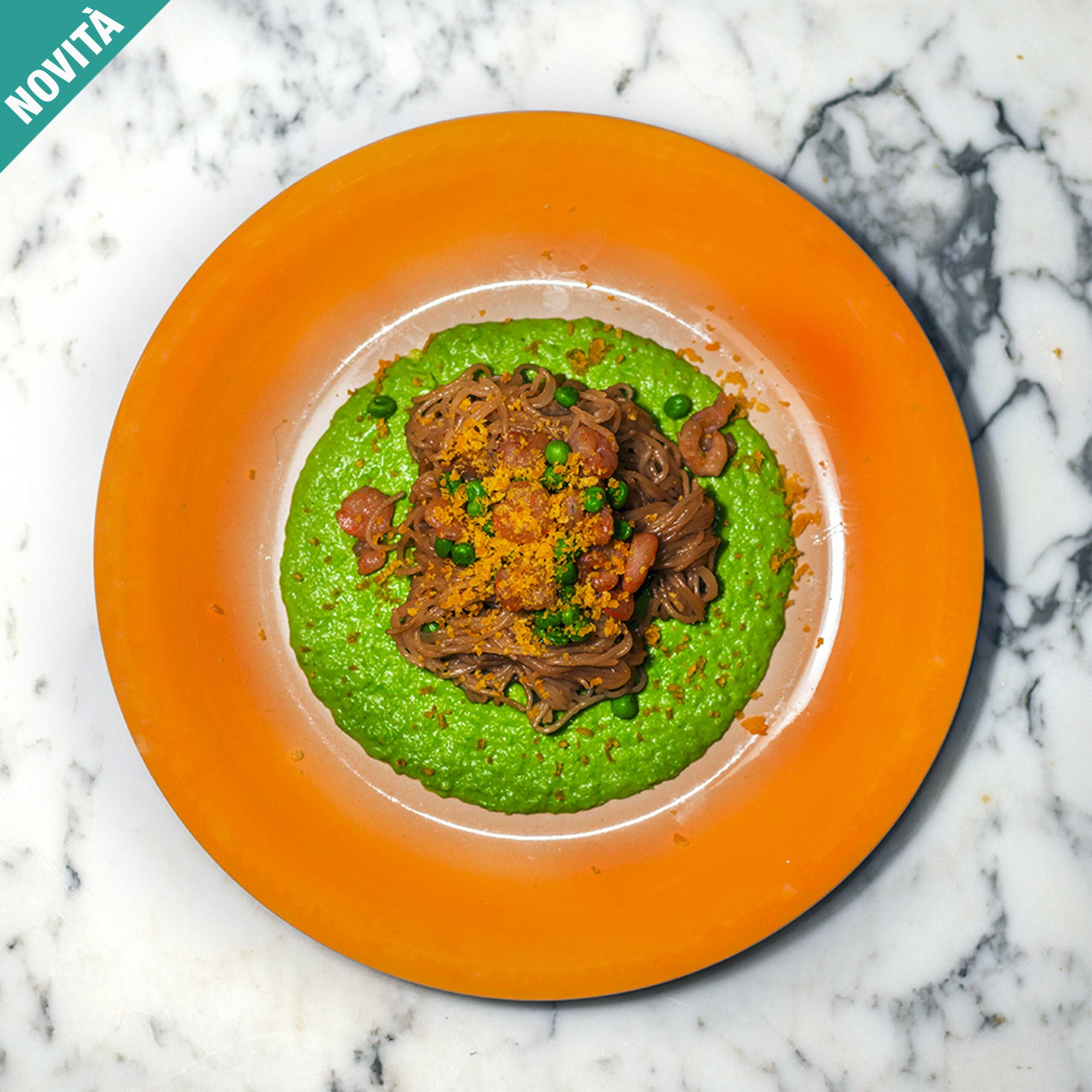• Vermicelli di riso • Piselli • Gamberetti • Salsa di soia Uovo • Olio • Sale • Pepe